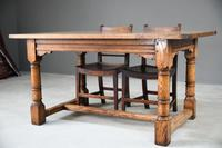 Country Antique Style Oak Refectory Kitchen  Dining Table (2 of 12)