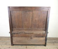 Small Antique Oak & Fruitwood Box Settle (12 of 12)