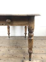 Antique Pine Farmhouse Kitchen Table with Drawer (13 of 13)