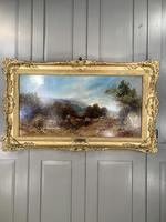 Antique Victorian landscape oil painting entitled Lunch Time by PG Hewett (3 of 11)