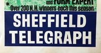 Original lithographic poster 'Win on the flat' by Frank Lynton Giles for the Sheffield Telegraph c.1965 (2 of 3)