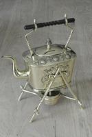 Fine Aesthetic Movement Brass Spirit Kettle Tea Kettle on Stand c.1880