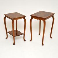 Pair of Matched Burr Walnut Edwardian Side Tables (7 of 10)
