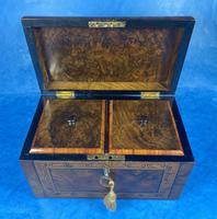 Victorian Tunbridge Ware Twin Section Tea Caddy (14 of 18)