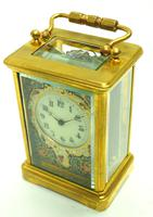 Superb French 8 Day Champleve Carriage Clock Cylinder Platform, Working c.1900 (3 of 12)