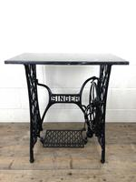 Antique Singer Sewing Machine Table with Marble Top (8 of 8)