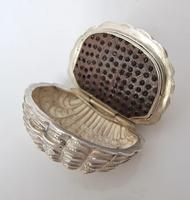 Stunning Victorian Silver Novelty Clam Shell Nutmeg Grater Hilliard & Thomason Birmingham 1874 (3 of 11)