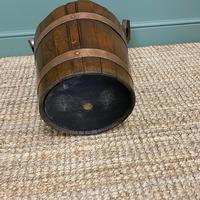 Spectacular 19th Century Victorian Oak Antique Log Bucket (2 of 5)