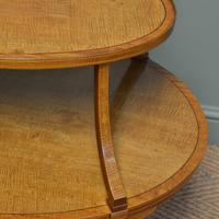 Quality Victorian Satinwood Two Tier Lamp Table (3 of 7)