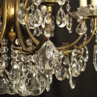 Italian Gilded 12 Light Antique Chandelier (4 of 8)