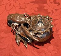 Fine Bronze Lobster Inkwell