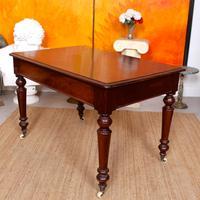 Desk Writing Table Mahogany 19th Century Victorian (4 of 11)