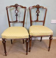 Antique Set of Four Victorian Walnut Dining Chairs (6 of 6)