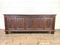 Huge 18th Century Carved Oak Coffer (2 of 9)