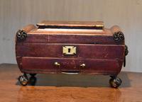 Fine Regency Leather Work Box (6 of 14)