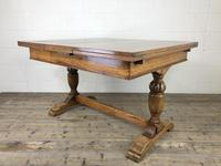 Early 20th Century Oak Draw Leaf Table (4 of 17)