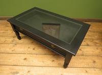 Black Coffee Table with Display Drawer & Glass Top (11 of 18)