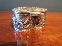 Antique Silver Heart Shaped Trinket Box (4 of 7)