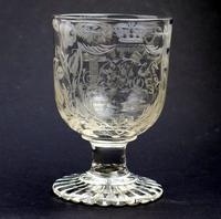 Exceptional, Fine & Rare Regency Oddfellows / Masonic Glass Rummer c.1814 (3 of 11)