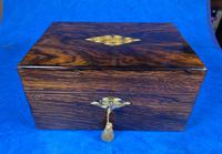Victorian Rosewood Jewellery Box with Mother of Pearl & Abalone Escutcheons (2 of 14)