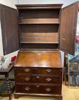 George I Walnut Bureau Bookcase (3 of 9)