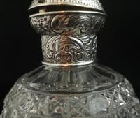 Antique Victorian Scent Bottle, Cut Glass, Sterling Silver (7 of 12)
