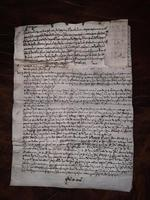 1440 A.D Medieval James ll of Scotland Period Vellum Document (12 of 13)
