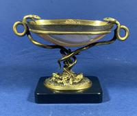 Russian 19th Century Gilt Bronze Tazza Shell on a Marble Base (9 of 14)