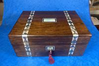 Victorian Rosewood Jewellery Box  With Inlay (2 of 15)