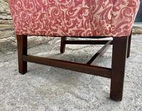 Victorian Mahogany Framed Wing Armchair (13 of 15)