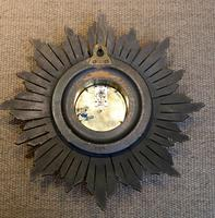 Sunburst Carved Giltwood Wall Clock (7 of 9)