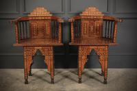 Pair of Damascus Syrian Moorish Inlaid Armchairs (4 of 17)
