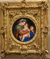 Porcelain Plaque of the Madonna Della Sedia by Raphael (2 of 9)