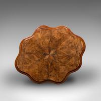 Antique Wine Table, Mahogany, Burr Walnut, Inlay, Side, Marquetry, Regency, 1820 (10 of 12)