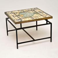1960's Tiled Top Brass Coffee Table (9 of 18)