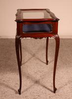 Small Mahogany Showcase Cabinet from Jeweler or Exhibition 19th Century (8 of 12)