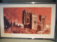 Norman Wade: Artist's Proof Screenprint of Durham Cathedral dated 1972