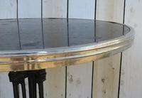 Art Deco Marble & Cast Iron Garden Bistro Table (6 of 7)