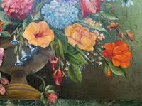 An Extraordinary Original 1952 Vintage French Still Life Of Flowers Oil Painting (7 of 11)