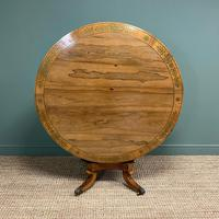 Spectacular Mellow Rosewood and Brass Inlaid Regency Circular Centre Table (6 of 8)