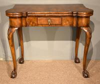 Walnut Card Table Fine Tapestry Interior (9 of 10)
