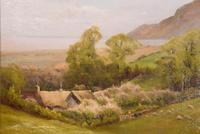 "Oil Painting by Walter Henry Goldsmith ""Springtime, Porlock, Somerset"" (4 of 6)"