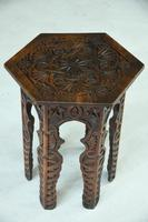 Moorish Chip Carved Octagonal Occasional Table (11 of 13)