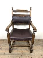 Pair of Mid 20th Century Oak Armchairs (4 of 7)