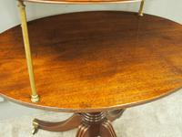 George IV Mahogany Oval Dumbwaiter (2 of 9)