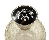 Antique Sterling Silver & Tortoiseshell Perfume / Scent Bottle 1917 (3 of 8)