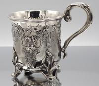 Exceptional Ornate Victorian Silver Christening Mug - London 1842