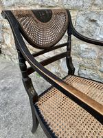 Single English Regency Painted Armchair (6 of 6)