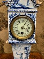 Rare 19th Century Dutch Delft Clock (2 of 8)