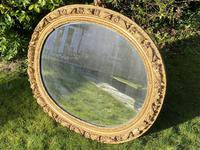 Early 18th Century Carved Giltwood Oval Mirror (2 of 6)